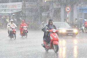 Sáng ngày Giỗ Tổ, cả nước có mưa, Hà Nội có mưa lớn