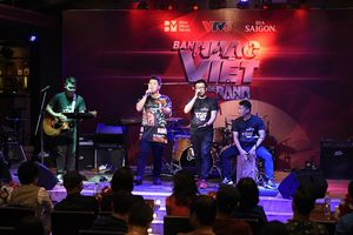Dàn giám khảo nặng kí quy tụ trong chương trình truyền hình thực tế Ban Nhạc Việt