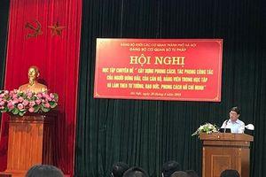 Sở Tư pháp Hà Nội: Học tập chuyên đề xây dựng phong cách, tác phong công tác theo tư tưởng, đạo đức, phong cách Hồ Chí Minh