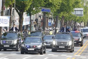 Đoàn xe Tổng thống Moon Jae-in.