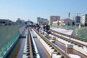 Tuyến đường sắt Cát Linh - Hà Đông thi công xuyên ngày nghỉ Lễ