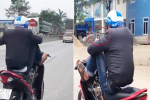 Thanh niên lái xe máy bằng cả 2 chân ở Nghệ An nhận kết đắng