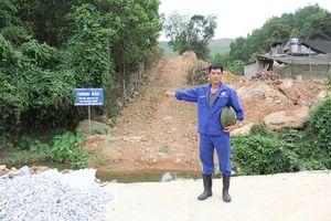 Thái Nguyên: Người dân hoang mang vì sụt lún đất núi Tán