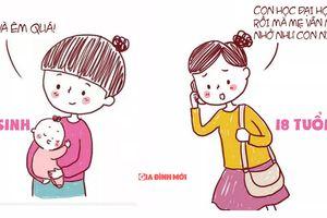 Cha mẹ trong mắt con cái thay đổi thế nào từ khi ra đời đến khi trưởng thành?