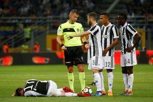 Kinh hoàng với vết thương phải khâu 10 mũi của tiền đạo Juventus