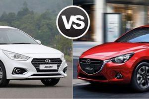 Mazda2 và Hyundai Accent: Sedan Nhật hay Hàn với 550 triệu đồng?
