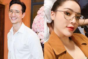Vừa đụng áo thun với Kỳ Duyên, Kim Lý lại tiếp tục đụng kính với loạt chị em Vbiz