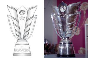 Cận cảnh cúp vô địch Asian Cup 2019 hoàn toàn mới, làm từ 15kg bạc Ý