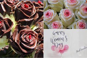 Đốn tim chị em ngày 8/3 với đủ kiểu hoa hồng phủ socola ngọt ngào