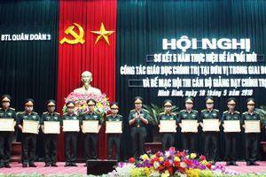 Quân đoàn 1 đổi mới toàn diện công tác giáo dục chính trị
