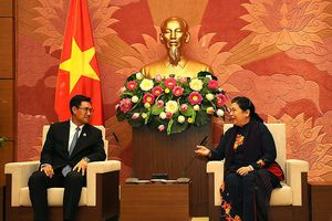 Phó Chủ tịch thường trực Quốc hội tiếp Bí thư T.Ư Đoàn TNNDCM Lào