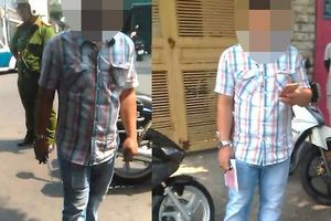 Tài xế ghi hình cảnh sát trật tự bị 'người lạ' đập điện thoại