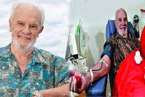 60 năm hiến máu cứu người, cụ ông trở thành ân nhân cứu mạng của hơn 2 triệu trẻ em