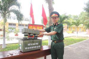 Chiến sĩ trẻ sáng chế phục vụ huấn luyện