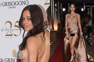 Những pha 'lộ hàng' khiến khách mời đỏ mặt của 2 mỹ nhân tại Cannes