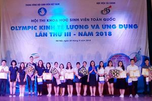 5 đề tài giành giải Nhất Hội thi Olympic Kinh tế lượng và ứng dụng'
