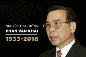Tang lễ nguyên Thủ tướng Phan Văn Khải được tổ chức theo nghi thức Quốc tang