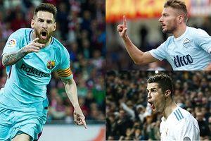 Cuộc đua 'Chiếc giày Vàng' châu Âu 2017/2018: Messi đếm giờ đăng quang