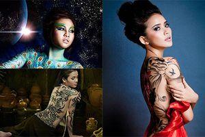 Mỹ nhân Việt nào từng làm người mẫu body painting?