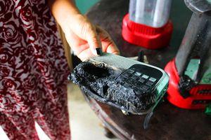 Đồ đạc tự bốc cháy trong một ngôi nhà ở Long An