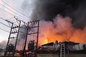 Cháy lớn thiêu rụi 1.700 mét vuông nhà xưởng KCN Quang Trung