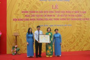 Quận Hoàn Kiếm (Hà Nội) có thêm một trường đạt Chuẩn quốc gia