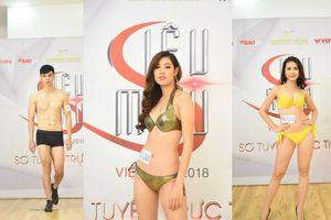 Trầm trồ trước thân hình chuẩn như tạc tượng của dàn thí sinh 'Siêu mẫu Việt Nam' trong phần thi bikini