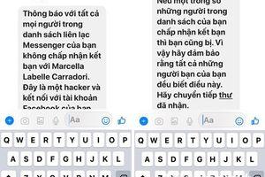 Cảnh giác với tin nhắn 'cảnh báo hacker' lan truyền trên Facebook