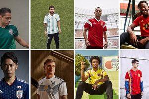 Bộ sưu tập áo đấu chính thức của 32 đội bóng dự World Cup 2018 (P1)