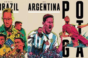Messi, Ronaldo, Neymar, Pogba cực chất trong poster World Cup 2018