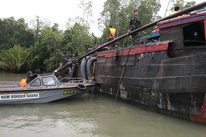 BĐBP TP Hồ Chí Minh tạm giữ phương tiện khai thác cát trái phép