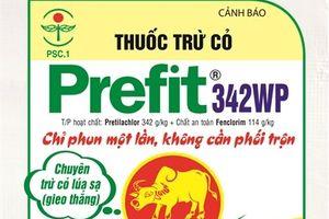 Sản phẩm thuốc trừ cỏ lúa mới Prefit 342WP (Trâu Vàng)