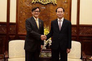 Chủ tịch nước Trần Đại Quang tiếp Đại sứ Thái Lan chào từ biệt