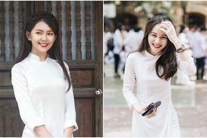 Loạt ảnh chứng minh chỉ cần mặc áo dài trắng rồi xõa tóc, nữ sinh tự khắc xinh đẹp như thiên thần