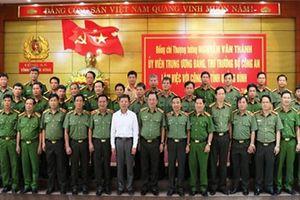 Thứ trưởng Bộ Công an Nguyễn Văn Thành làm việc với Công an tỉnh Quảng Bình