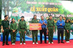 Hà Tĩnh: Chiến sĩ nhí xuất quân 'Học kỳ quân đội'