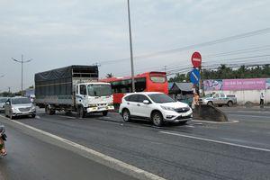 Tai nạn liên hoàn trên đường dẫn cao tốc TP.HCM - Trung Lương