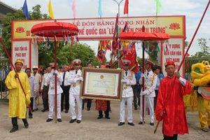 Long trọng tổ chức đón Bằng Di sản văn hóa phi vật thể quốc gia 'Lễ hội đền Chiêu Trưng'