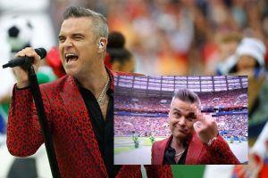 Robbie Williams bị chỉ trích vì giơ 'ngón tay thối' tại Lễ khai mạc World Cup 2018