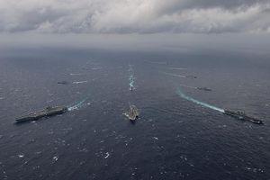'Luyện đòn' trị tàu ngầm Trung Quốc, Mỹ-Nhật-Ấn rầm rộ tập trận ở Guam