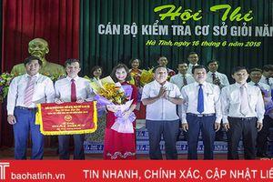 Văn phòng Tỉnh ủy Hà Tĩnh giành giải nhất Hội thi cán bộ kiểm tra cơ sở giỏi