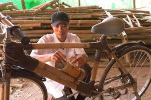 Độc đáo xe đạp tre ở Trà Vinh