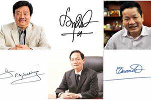 'Soi' chữ ký đáng giá nghìn tỷ của các đại gia Việt