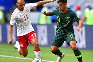 Đan Mạch - Úc 1-1: HLV Úc tiếc nuối, VAR lại gây tranh cãi