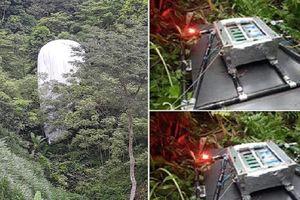 Tiêu hủy vật thể lạ phát sáng rơi xuống rừng ở Hà Giang