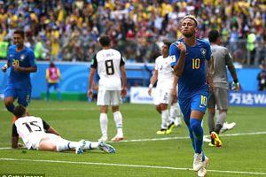 Ghi 2 bàn trong 6 phút bù giờ, Brazil thắng kịch tính Costa Rica
