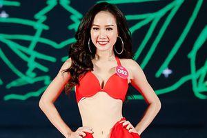Người đẹp Hoa hậu Việt Nam 2018 diện bikini đỏ rực trình diễn