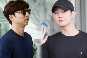Chú 'yêu tinh' 40 tuổi Gong Yoo chuẩn men 'ăn đứt' Jung Hae In tại sân bay