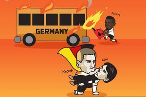 Biếm họa 24h: MXH 'ngả mũ' trước pha giải cứu nước Đức của Toni Kroos