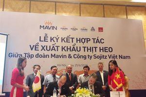 Tập đoàn Mavin và Sojitz ký kết hợp tác xuất khẩu thịt lợn